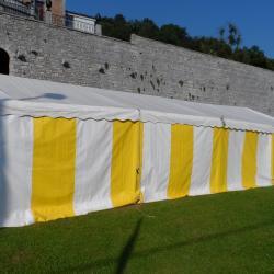 Tente de réception (6m de large).